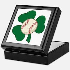 Irish Baseball Shamrock Keepsake Box
