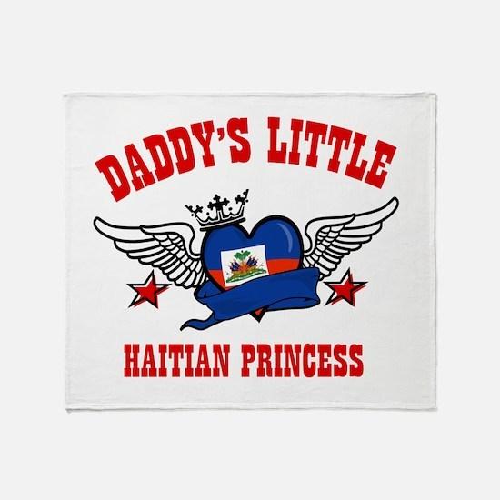 Daddy's Little Haitian Princess Throw Blanket