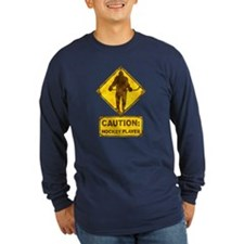 Hockey Player Caution Sign T