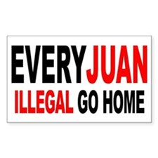 Anti-Illegal Immigration MX2 Sticker (Rectangular