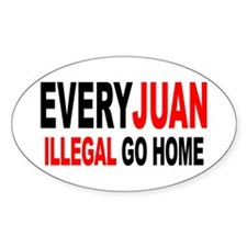 Anti-Illegal Immigration MX2 Oval Decal
