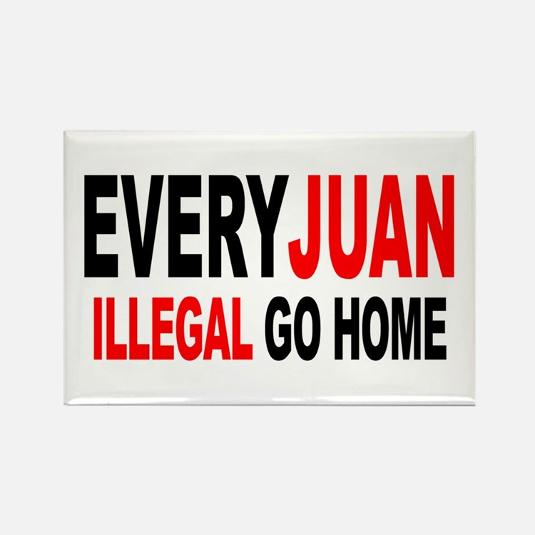 Anti-Illegal Immigration MX2 Rectangle Magnet