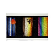 BEAR_LEATHER_RAINBOW PRIDE FLAGS Rectangle Magnet