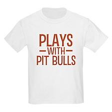 PLAYS Pit Bulls T-Shirt