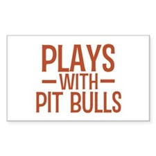 PLAYS Pit Bulls Decal