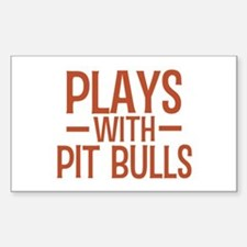 PLAYS Pit Bulls Decal