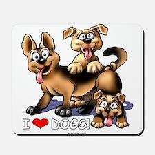 I Love Dogs Mousepad