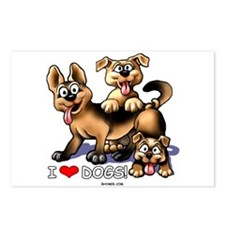 I Love Dogs Postcards (Package of 8)