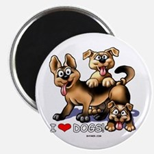 I Love Dogs Magnet