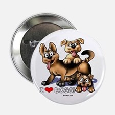 """I Love Dogs 2.25"""" Button"""