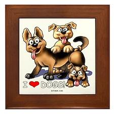 I Love Dogs Framed Tile