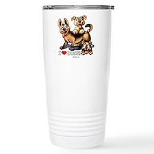 I Love Dogs Stainless Steel Travel Mug