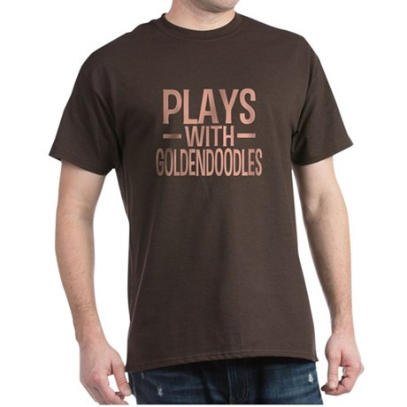 PLAYS WITH Goldendoodles Dark T-Shirt