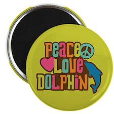 Peace Love Dophin Magnet