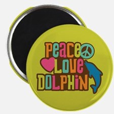 Peace Love Dophin Magnet