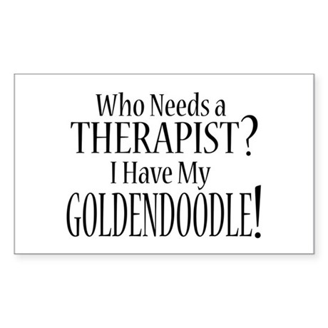 THERAPIST Goldendoodle Sticker (Rectangle)