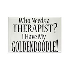 THERAPIST Goldendoodle Rectangle Magnet