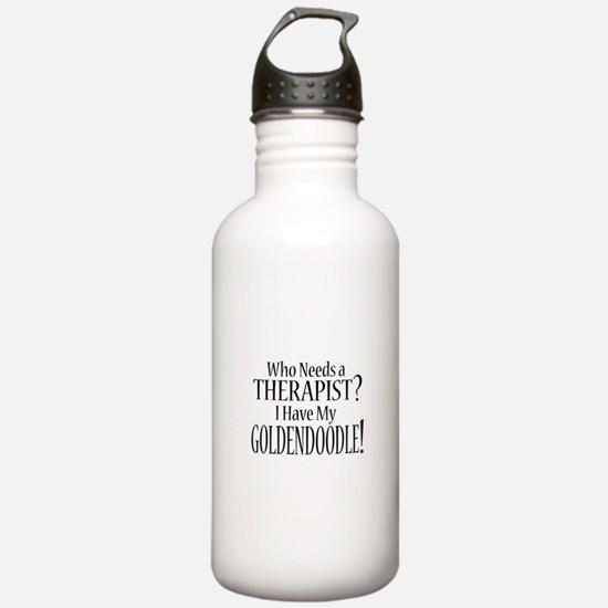 THERAPIST Goldendoodle Water Bottle