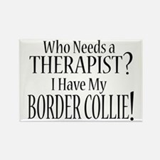 THERAPIST Border Collie Rectangle Magnet