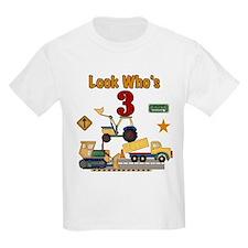Construction Vehicles 3rd Birthday T-Shirt