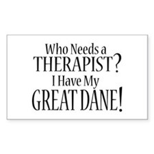 THERAPIST Great Dane Decal