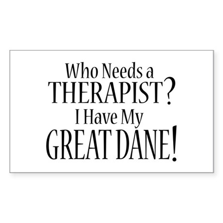 THERAPIST Great Dane Sticker (Rectangle)