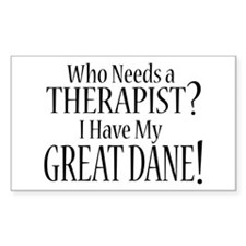 THERAPIST Great Dane Decal