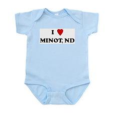 I Love Minot Infant Creeper
