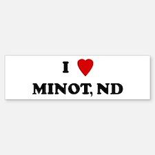 I Love Minot Bumper Bumper Bumper Sticker