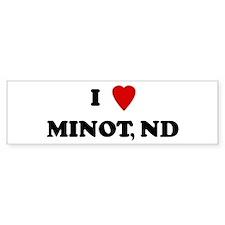 I Love Minot Bumper Bumper Sticker