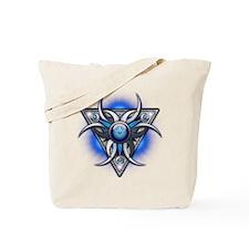 Blue Triple Crescent Moons Tote Bag