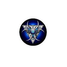 Blue Triple Crescent Moons Mini Button