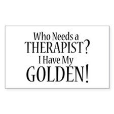 THERAPIST Golden Decal