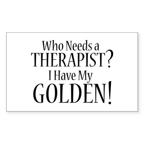 THERAPIST Golden Sticker (Rectangle)
