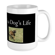 Dog's Life Black Mug