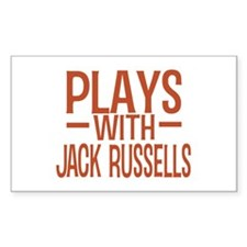 PLAYS Jack Russells Decal