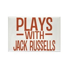 PLAYS Jack Russells Rectangle Magnet
