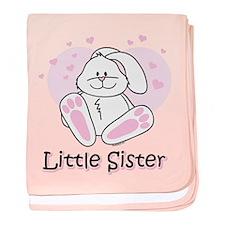 Cute Bunny Little Sister baby blanket
