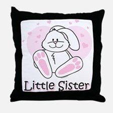 Cute Bunny Little Sister Throw Pillow
