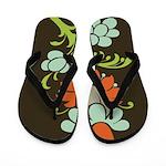 Paisley to Flower Flip Flops