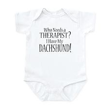 THERAPIST Dachshund Infant Bodysuit