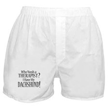 THERAPIST Dachshund Boxer Shorts