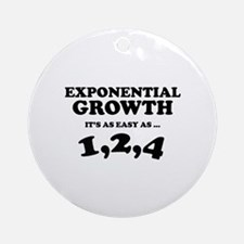 Exponential Growth Ornament (Round)