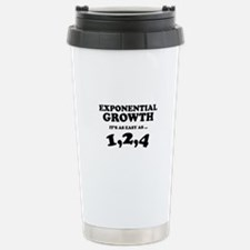 Exponential Growth Travel Mug
