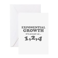 Exponential Growth Greeting Card