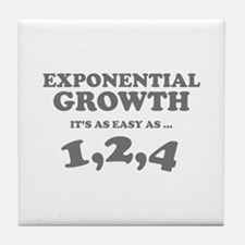 Exponential Growth Tile Coaster