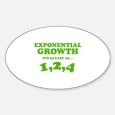 Exponential Growth Decal