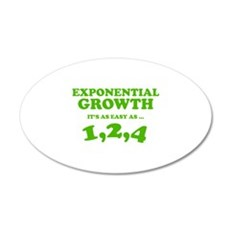 Exponential Growth 22x14 Oval Wall Peel