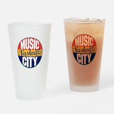 Nashville Vintage Label Drinking Glass