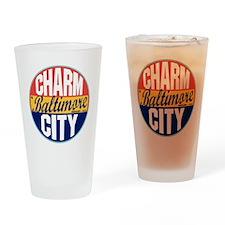 Baltimore Vintage Label Drinking Glass